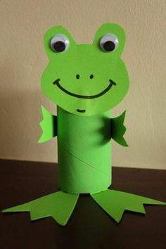 Toilet Paper Roll Crafts - Get creative! These toilet paper roll crafts are a great way to reuse these often forgotten paper products. You can use toilet paper Frog Crafts, Paper Crafts For Kids, Easter Crafts, Arts And Crafts, Easter Ideas, Toddler Art, Toddler Crafts, Craft Activities, Preschool Crafts