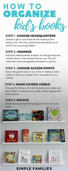 How to organize kid's books | How to organize children's books | minimalism with kids | minimalism with families | how to store kids books