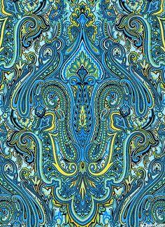 eQuilter Renaissance Garden - Princely Paisley - Ocean Blue