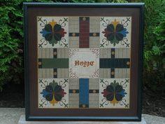 Primitive Wood Parcheesi Game Board Folk Art by JohnnyUNamath