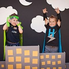 super hero party and photo booth by vera