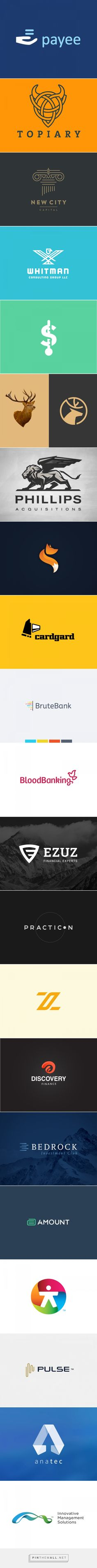 30 Elegant Financial Logo Designs  | inspirationfeed.com - created via http://pinthemall.net