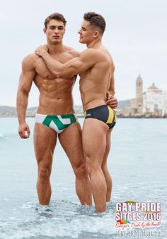 Two Russian fitness models in Sitges Spain for a Gay Pride 2016 shoot. Proud to be Gay!