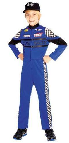 7b957de164e674 Boys Blue Racing Car F1 Driver Boiler Suit Sports Fancy Dress Up Costume  Outfit  nascaroutfitcostumes