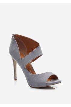 Sandałki na szpilce Jenny szare