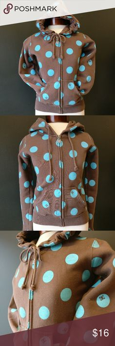 DC Shoe Co. PacSun Zip Front Hoodie Brown & Teal DC Shoe Co. PacSun Zip Front Hoodie Brown & Teal  Size XS Barely worn, used condition. Super cute! DC Tops Sweatshirts & Hoodies