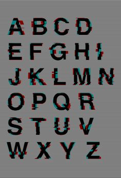 Glitched Helvetica on Behance