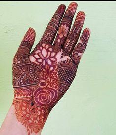 Henna Flower Designs, Finger Henna Designs, Henna Art Designs, Wedding Mehndi Designs, Mehndi Designs For Fingers, Dulhan Mehndi Designs, Latest Mehndi Designs, Henna Mehndi, Mehedi Design