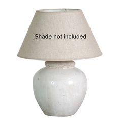 £50.40 White Glaze Ceramic Lamp Base Only