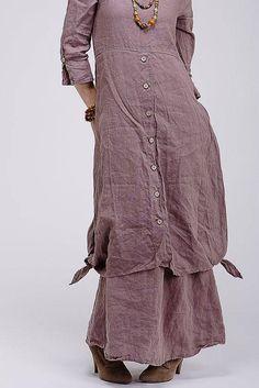 Boho style pure linen dress Fashion Wear, Boho Fashion, Womens Fashion, Sleeves Designs For Dresses, Kurta Designs Women, Boho Outfits, Hippy, Boho Style, Inspiration