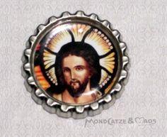 -f026b- Kronkorken Magnet, JESUS 2, € 2,80 , bottlecap von Mondcatze´s Zauberwerkstatt auf http://de.dawanda.com/shop/Mondcatze