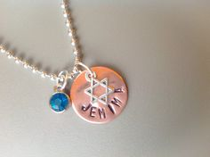 Bat Mitzvah necklace Bat Mitzvah jewelry by Stamptations on Etsy