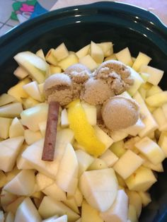 Crock Pot Applesauce -- fill your home with the smell of baking apples, perfect for fall.