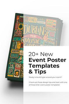 Attention-Grabbing Event Poster Templates, Backgrounds & Design Tips - Venngage Event Poster Template, Event Poster Design, Poster Templates, Poster Design Inspiration, Flyer Template, Flyer Design, Mad Design, Design Ideas, Lip Tips