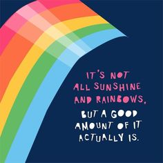 Outlook for 2018. Appreciating all the sunshine and rainbows I DO have. #mindsetshift #parscaeliwords