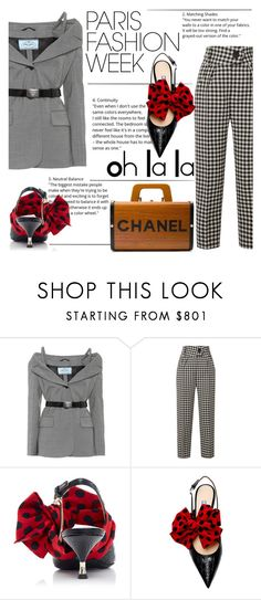 """""""PFW Let's Go"""" by katerin4e-d ❤ liked on Polyvore featuring Prada, Petar Petrov and Chanel"""