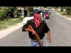 Mexican town forms armed defense groups to combat drug gangs    Full Story:    Residents in the town of Ayutla in Southern Mexico have armed themselves, and installed checkpoints in the roads, in a desperate bid to stop drug gangs from operating in the area.    Dozens of armed, masked men are stopping vehicles and searching them for weapons and drugs....
