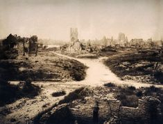 Ypres Belgium soon after WWI, circa March 1919.