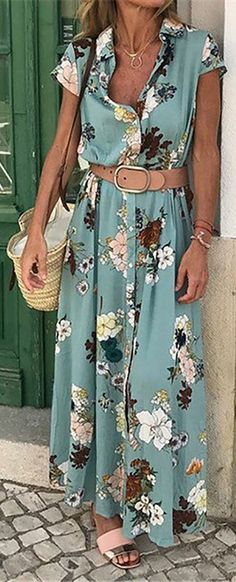 Shirt Collar Women Dresses Shift Daily Cotton-Blend Floral Dresses Source by berndendterbendter de moda gorditas Fast Fashion Brands, Latest Fashion For Women, Womens Fashion, Fashion Trends, Sorority Formal Dress, Casual Dresses, Fashion Dresses, Floral Dresses, Maxi Dresses