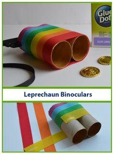 your kids like going on their own adventures, send them out in search for Leprechauns! Just remember to make these special Leprechaun Binoculars before you go searching. Designer Dawn shows you how to put them together. March Crafts, Spring Crafts, Holiday Crafts, Holiday Fun, Daycare Crafts, Toddler Crafts, Craft Activities, Toddler Activities, Spring Activities