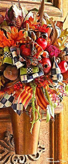 Fall Into Wonderland: MacKenzie- Childs Pin — Très Haute Diva Thanksgiving Decorations, Halloween Decorations, Christmas Decorations, Craft Decorations, Fall Wreaths, Christmas Wreaths, Floral Wreaths, Xmas, Mackenzie Childs Inspired