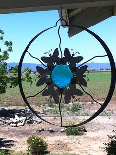 Butterfly circle, sphere , garden art, hanging on Etsy, $75.00