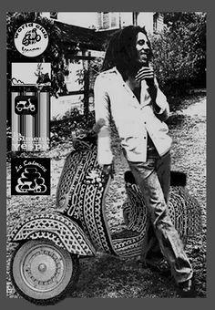 Bob Marley y la vespa