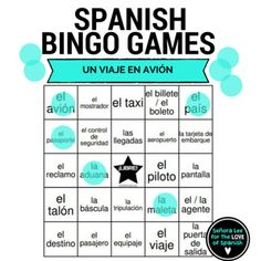 40 bingo cards (printed 2 per page) to practice 30 Spanish travel words. Get students communicating information quickly and work toward the goal of being able to buy a plane ticket by reinforcing these airport words. Instant, no-prep activity!