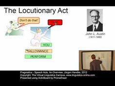 This E-Lecture is the first part of the VLC introduction to pragmatics. It discusses the central differences between meaning and use and examines the use of . Speech Act, Second Language, Meant To Be, Acting, Education, Learning, Languages, Uni, Youtube