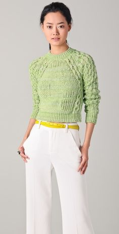 See By Chloe Cropped Sweater thestylecure.com