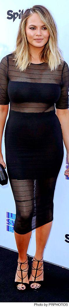 """Chrissy Teigen wearing Bless'ed Are The Meek dress - YC Event - Spike's """"Lip Sync Battle"""" - 06/14/2016"""