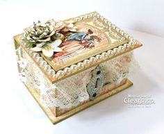 Meihsia Liu Simply Paper Crafts Clearsnap G45 Blog Hop Mixed Media Box using Gilded Lily