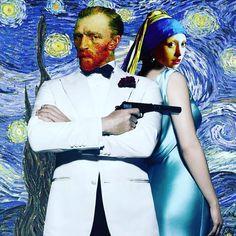 Johannes Vermeer, Vincent Van Gogh, Van Gogh Arte, Girl With Pearl Earring, Mona Lisa, Frida Art, Photocollage, Mona Friends, Arte Pop