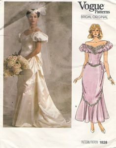 If there's one thing I love the 1980s (and I think there only IS one thing), it was the wedding dress styles! Very Victorian...
