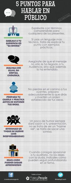 5 consejos para hablar en público #infografia #infographic
