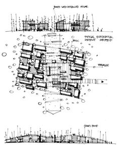 Using different perspectives of the urban space to represent cut elements using . - Using different perspectives of the urban space to represent cut elements using cross hatching, hat - Sketchbook Architecture, Villa Architecture, Architecture Drawing Plan, Architecture Graphics, Concept Architecture, Architecture Diagrams, Architecture Presentation Board, Presentation Boards, Architectural Presentation