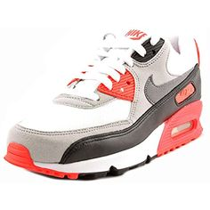 6e940f25d5f1af Nike Air Max 90 OG Infra Red Mesh Womens Lifestyle Shoe White Grey Black
