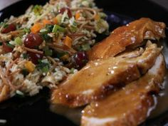 Roasted, Brined Turkey Breast with Maple-Worcestershire Gravy and Fruit and Nut Rice Pilaf from CookingChannelTV.com