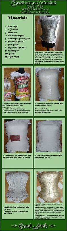 This method can be easily modified to make armor for any part of the body!  Chest armor tutorial by *EnjiNight on deviantART