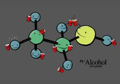 T-shirt tribute to the time-honored combination of booze and science