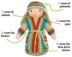 Paso a paso: San José tejido a crochet (amigurumi Joseph tutorial)