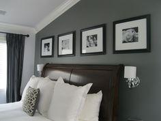 Love the dark grey back wall
