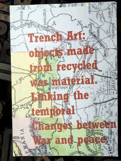 Trench Art Matchbox Art, Creative Skills, Mail Art, Recycled Materials, First World, Trench, Art Projects, Mixed Media, War
