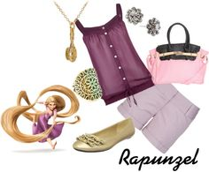 """Rapunzel Inspired Outfit"" For Totten Totten litchhult Disney Bound Outfits, Disney Inspired Outfits, Disney Style, Short Outfits, Dress Outfits, Cute Outfits, Character Inspired Outfits, Disney Costumes, Disneybound"