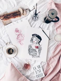 Parisienne art black and white