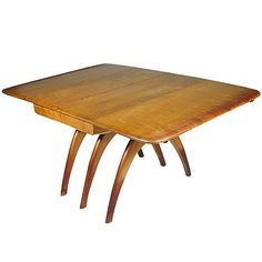 1stdibs | Heywood Wakefield Butterfly Drop Leaf Wishbone Dining Table