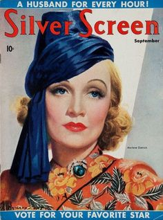 Marlene Dietrich - Silver Screen. Sept.