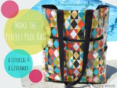 There is still some Summer left!! Time to make the pool bag :)