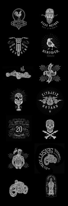 Not sure what these mean - but I think they're cool - Prints & Logos / BMD Design Inspiration Logo Design, Typography Inspiration, Typography Design, Branding Design, Type Logo, Logo Luxury, Logos Retro, Badges, 3d Prints