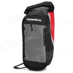 ROSWHEEL Bicycle Frame Pannier Front Tube Bag - Black   Red Price: $9.13